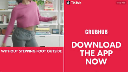 Ad appears when TikTok users open the app and completely take over the screen for a few seconds before turning into an In-Feed Video ad